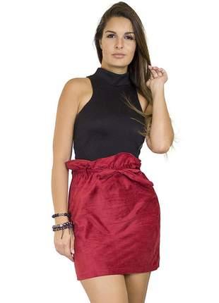 Saia dress code moda clochard vermelha