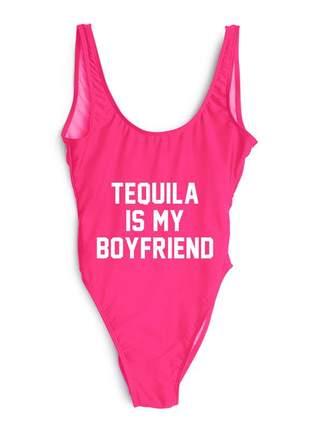 Maiô com frase tequila is my boyfriend