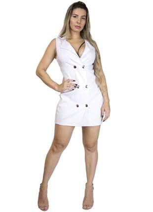 Vestido colete dress code moda branco
