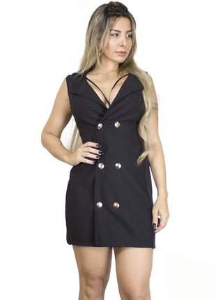 Vestido colete dress code moda preto