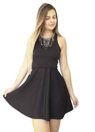 Vestido godê dress code moda preto