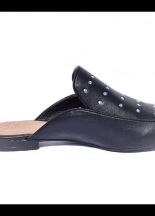 Sapato feminino mule renata della vecchia preto numeração especial 40, 41 e 42