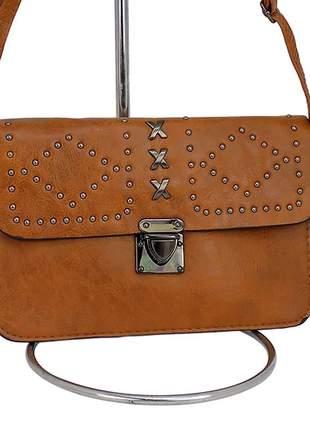 Bolsa tiracolo alça transversal de couro