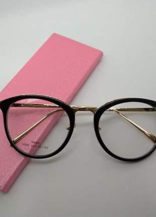 Óculos de grau feminino 2019 armação geek black d-33-g garantia