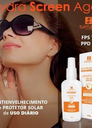 Protetor solar hidra screen age fps 70 e ppd 26