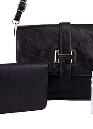Kit bolsa + carteira + relógio luxo