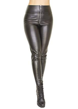 Calça dress code moda zíper preta