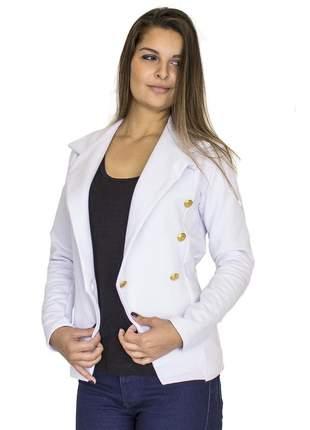 Blazer dress code moda botões branco