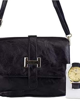 Kit bolsa + relógio casual