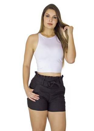 Short clochard dress code moda preto