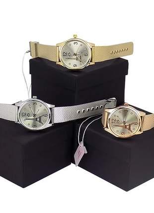 Kit 3 lindos relógios luxo