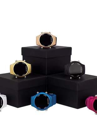 Kit 10 relógios feminino de led multicolor atacado p/revenda