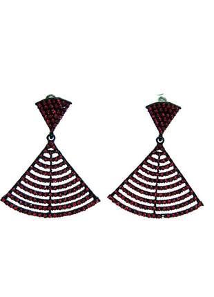 Brinco infinity fashion strass vermelho
