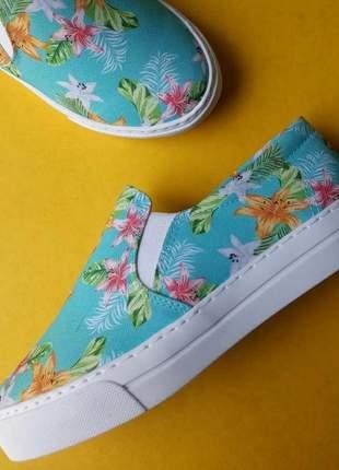 Tênis slip on floral