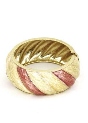Pulseira infinity fashion bracelete esmaltado marfim