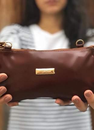 Bolsa carteira em couro legítimo