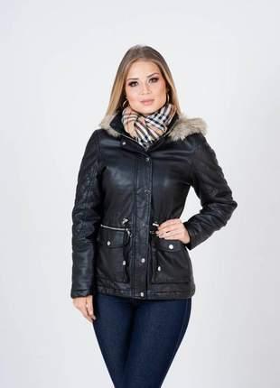 Max jaqueta de couro feminina plus size