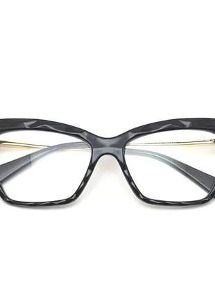 Armação óculos grau feminina lapidada facetada preto
