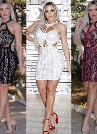 Vestido feminino curto renda