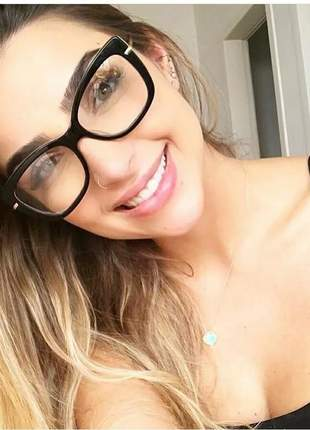 Armação de óculos feminina grande gatinho moda blogueiras