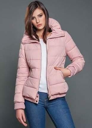 Jaqueta nylon rosa nude ribanas iozi