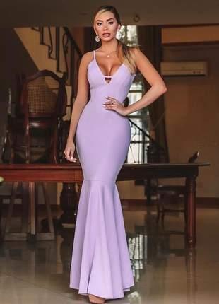 Vestido longo lavanda - lilás madrinha formanda