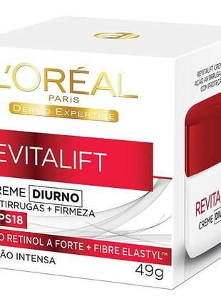 Creme antirrugas l'oréal paris revitalift diurno fps 18