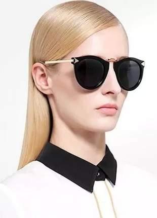 Óculos de sol feminino lindo vintage retrô uv400