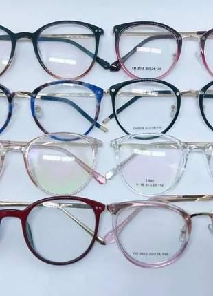 Atacado 10 pça armação óculos de grau feminino modelo varias cores