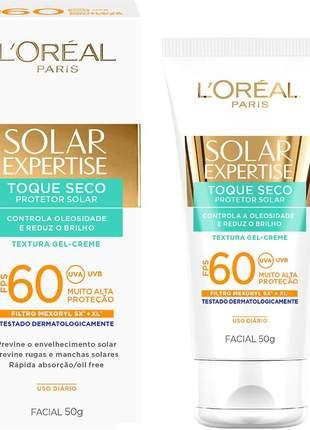 Protetor facial toque seco solar expertise fps 60 l'oreal paris