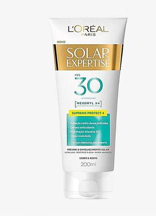 Protetor corporal l'oreal paris solar expertise supreme protect 4 fps 30 200ml