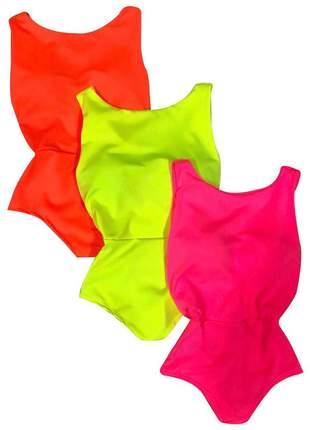Body feminino adulto neon várias cores