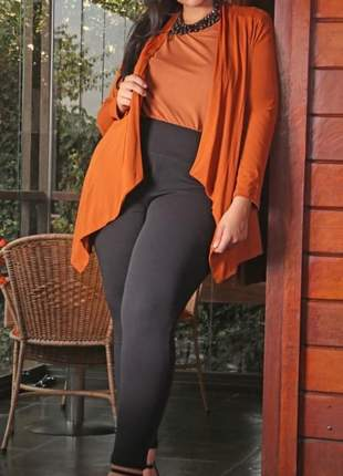 Calça legging plus size cintura alta feminina