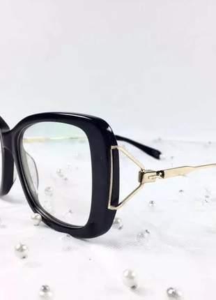 Armação oculos grau feminino original acetato ale df605