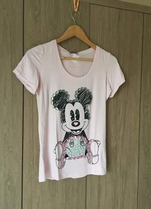 Camiseta miney de viscolycra bordada