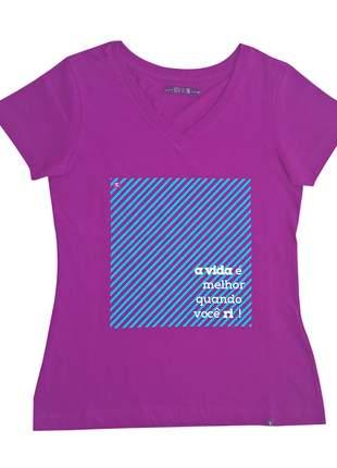 Camiseta feminina roxo