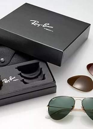 Ray ban aviador tech flip out rb 3460 troca lentes dourado