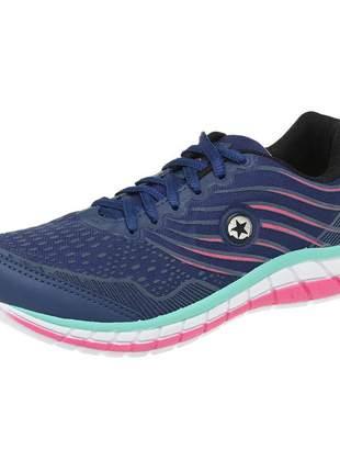 Tênis feminino sf 0527 marinho - pink