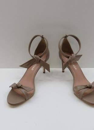 Sandália laço nózinho amarração cecconello mestiço taupe, cor marron glacê