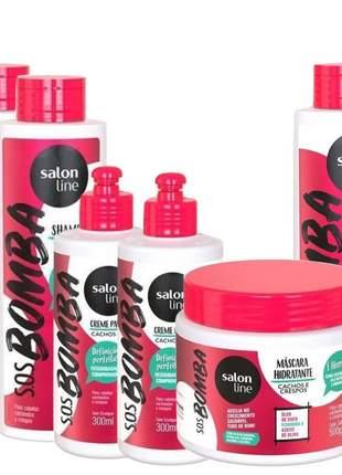 Sos bomba cachos e crespos liberada salon line 06 produtos