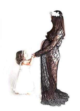 Vestidos  de renda open dress ensaios fotográficos gestantes ou sensual maternidade