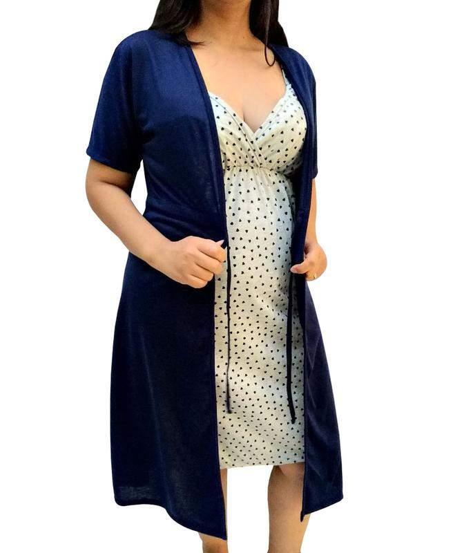 Gioco jersey alcinha e una vestaglia per le donne in gravidanza maternità-n026 - bella donna incinta