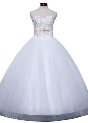 Vestido de noiva top princesa casamento debutante 15 anos formatura