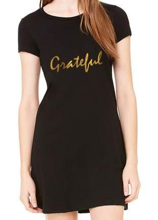 Vestido preto básico grateful gold
