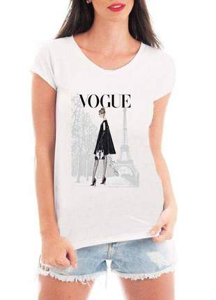 Camiseta feminina vogue paris