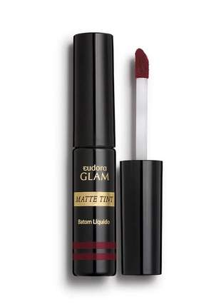 Batom líquido matte tint glam bordô intenso, 4ml