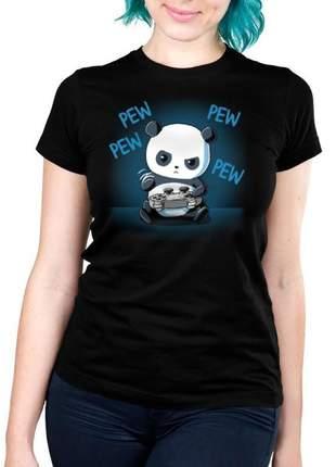Camiseta feminina panda gamer