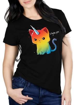 Camiseta feminina - gatinho i hate you