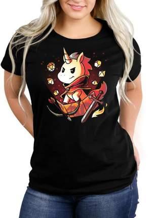 Camiseta feminina unicornio