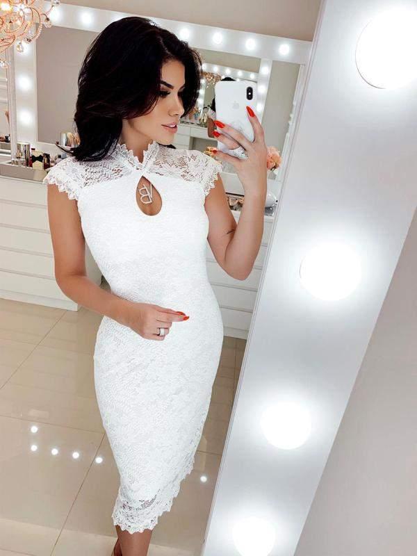 Vestido Branco Off Whihte Midi Renda R 15000 Shafa O Melhor Da Moda Feminina